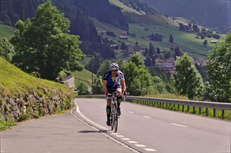 Patrick Leder beim Radeln
